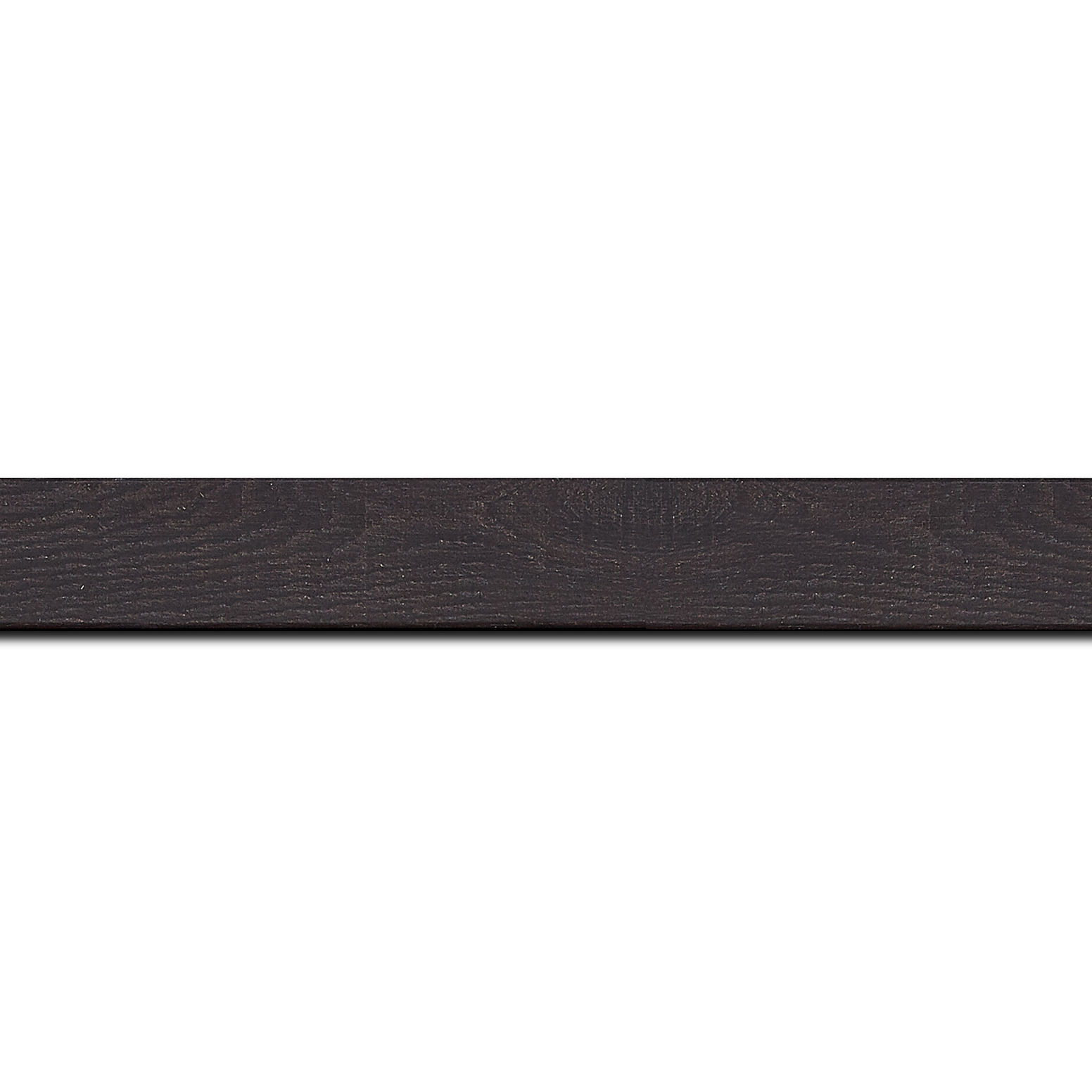 Baguette longueur 1.40m bois profil plat largeur 2.6cm hauteur 5cm décor bois wengé foncé