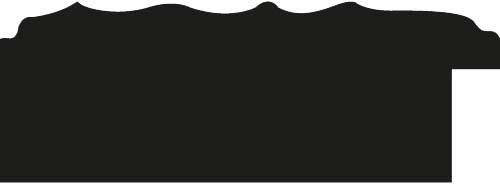 Baguette coupe droite bois profil plat largeur 7cm couleur noir mat effet tourbillon