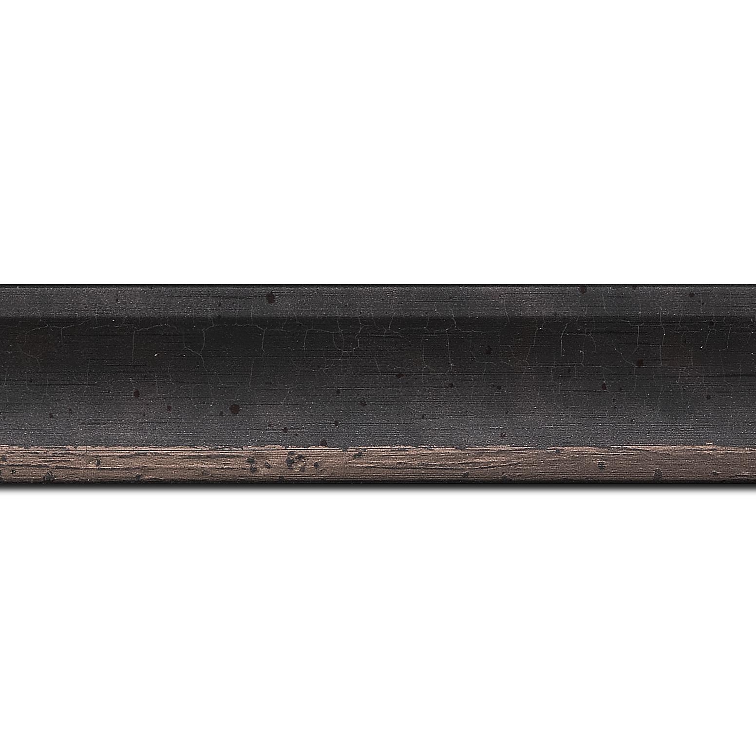 Baguette longueur 1.40m bois profil incurvé largeur 3.9cm plombs tamisé