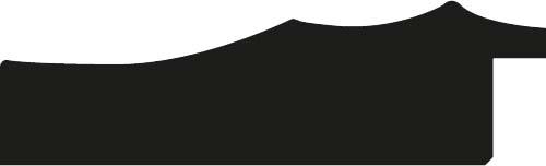 Baguette coupe droite bois profil plat ondulé largeur 5.9cm noir antique filet or