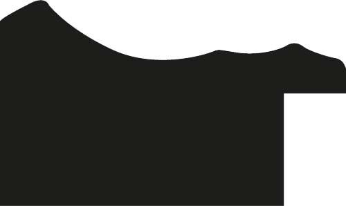 Baguette precoupe bois profil incurvé largeur 4.2cm couleur noir filet or fondu finition nature