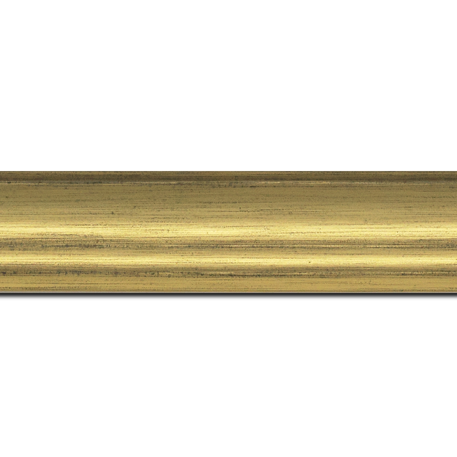 Baguette longueur 1.40m bois profil incurvé largeur 4.2cm or finition nature