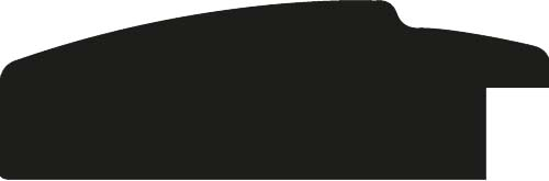 Baguette coupe droite bois profil arrondi largeur 7.6cm couleur chocolat nez noirci
