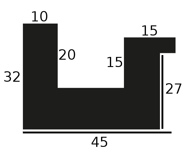Baguette 12m bois caisse américaine largeur 4.5cm noir satiné (spécialement conçu pour les supports rigides ne nécessitant pas de protection plexi ou autre : aluminium, dibon , pvc etc...le sujet se colle sur le nez de feuillure du cadre ) profil en u