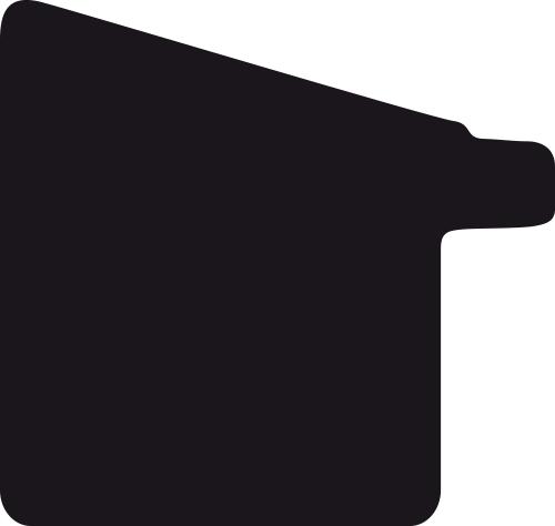 Baguette coupe droite bois profil incliné en pente largeur 2.5cm couleur or patiné filet or