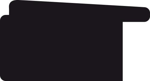 Baguette coupe droite bois profil plat incliné largeur 3.7cm couleur noir ébène effet ressuyé