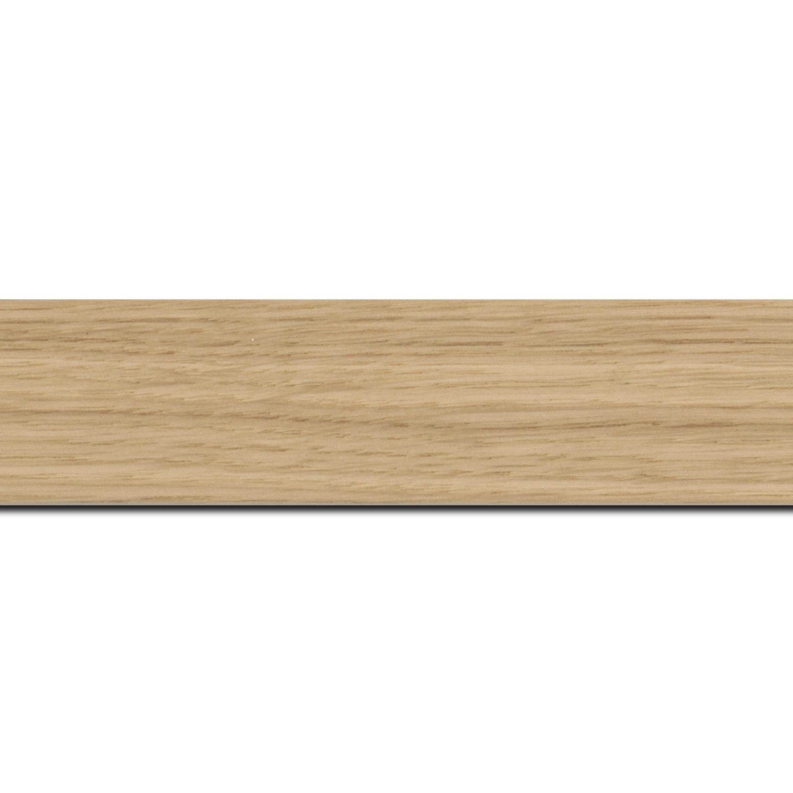 Pack par 12m, bois profil plat largeur 4cm plaquage haut de gamme chêne naturel(longueur baguette pouvant varier entre 2.40m et 3m selon arrivage des bois)