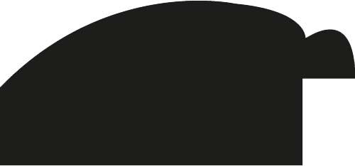 Baguette coupe droite bois profil arrondi largeur 4.7cm couleur noir mat finition pore bouché filet or mat contemporain
