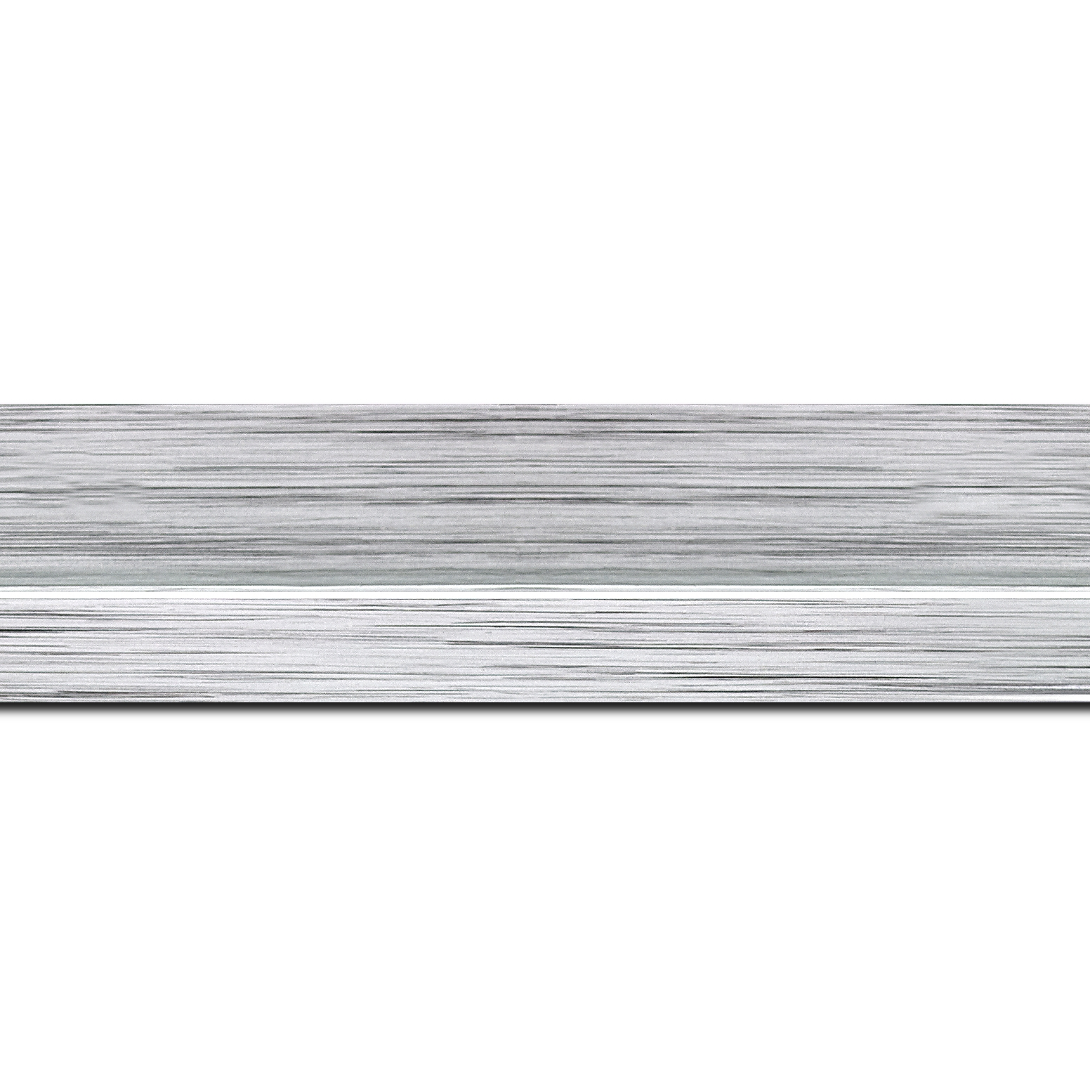 Pack par 12m, bois profil plat largeur 4.5cm couleur argent nez argent (longueur baguette pouvant varier entre 2.40m et 3m selon arrivage des bois)