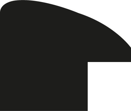 Baguette 12m bois profil arrondi plongeant largeur 2.4cm couleur argent chaud effet oxydé filet extérieur or