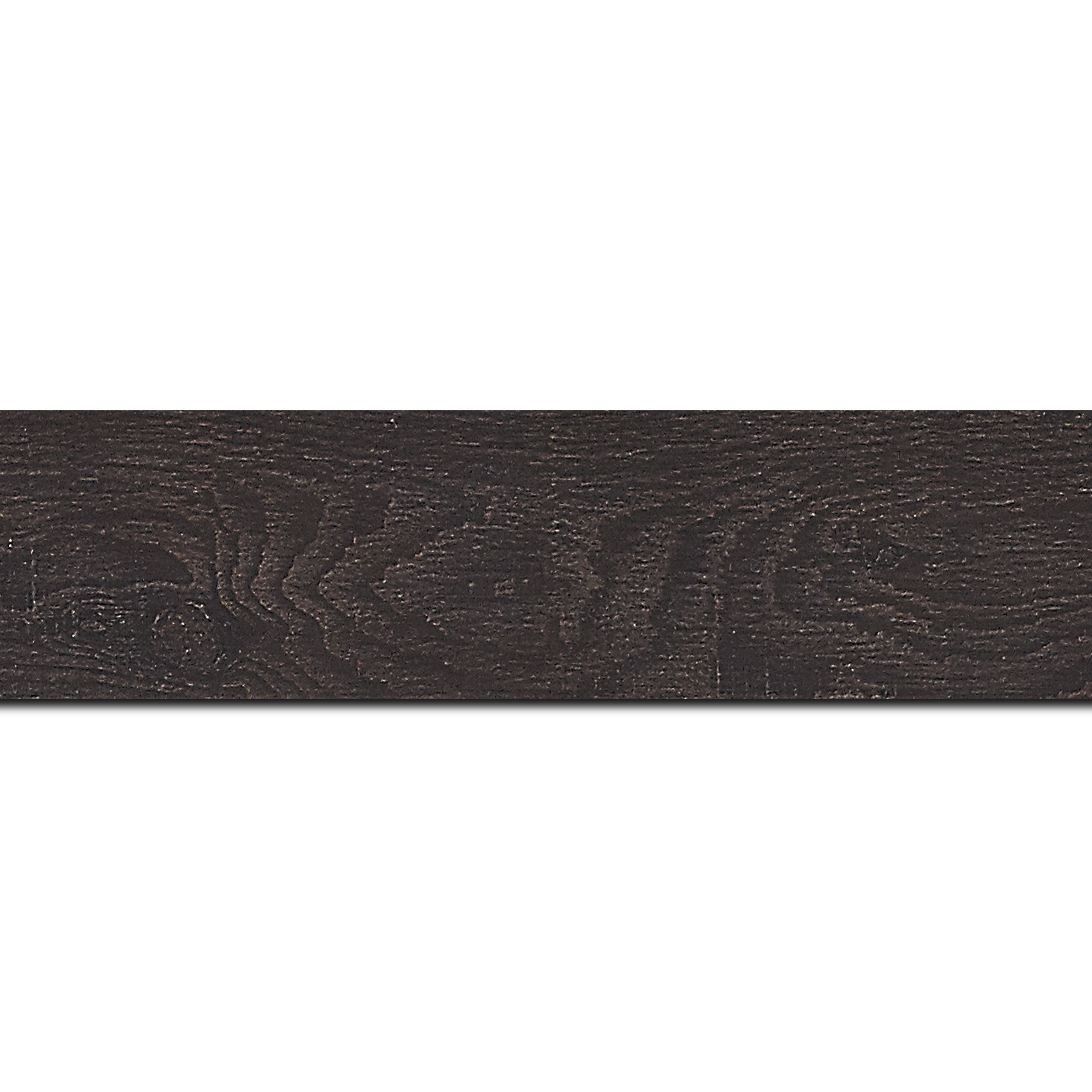 Baguette longueur 1.40m bois profil plat largeur 4.2cm décor bois wengé foncé