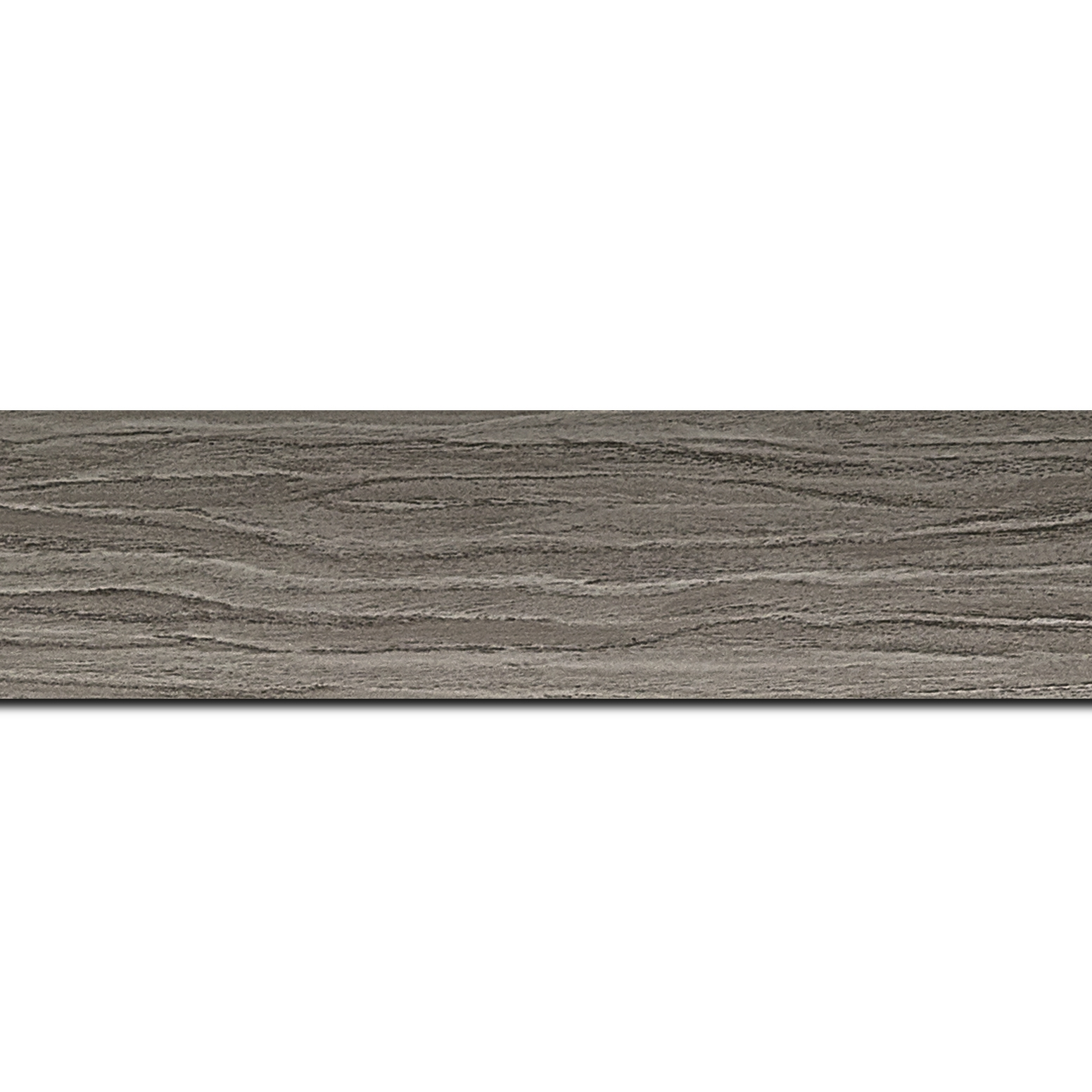 Pack par 12m, bois profil plat largeur 4.2cm décor bois gris(longueur baguette pouvant varier entre 2.40m et 3m selon arrivage des bois)