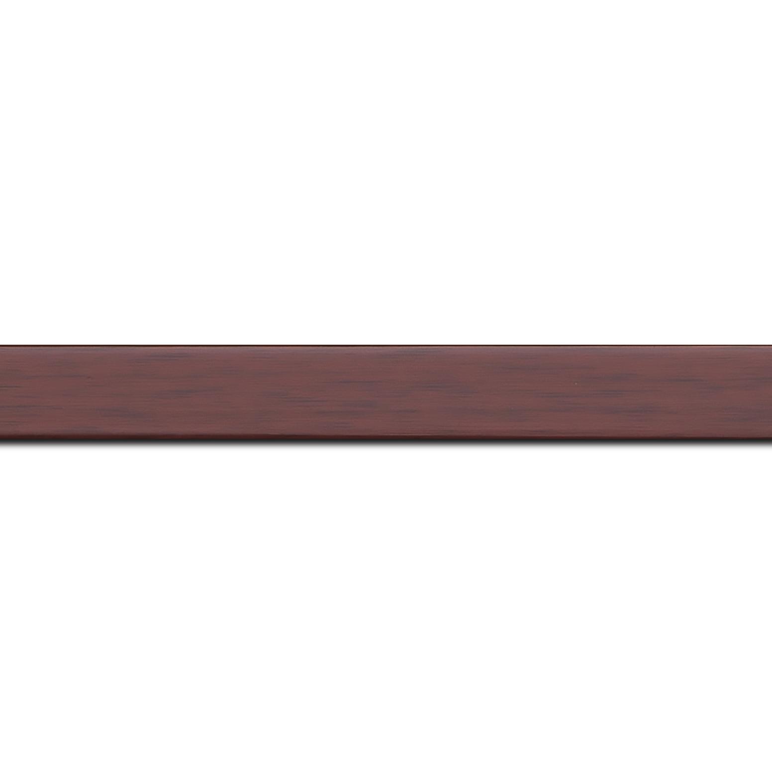 Baguette longueur 1.40m bois profil plat effet cube largeur 2cm couleur ton bois bordeaux