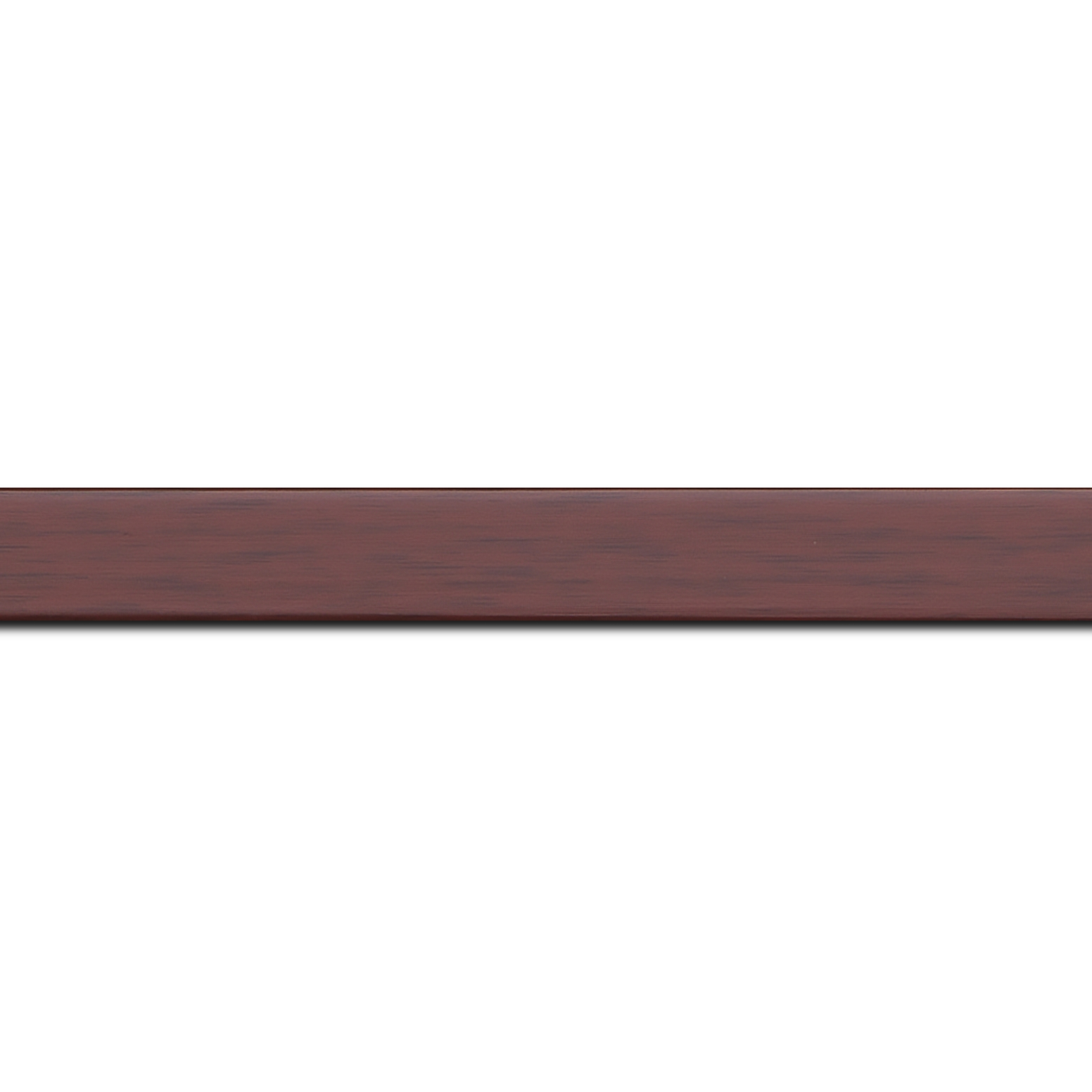 Pack par 12m, bois profil plat effet cube largeur 2cm couleur ton bois bordeaux(longueur baguette pouvant varier entre 2.40m et 3m selon arrivage des bois)