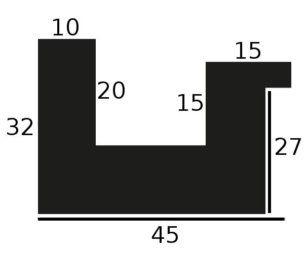 Baguette precoupe bois caisse américaine largeur 4.5cm noir satiné (spécialement conçu pour les supports rigides ne nécessitant pas de protection plexi ou autre :  aluminium, dibon , pvc etc...le sujet se  colle sur le nez de feuillure du cadre ) profil en u