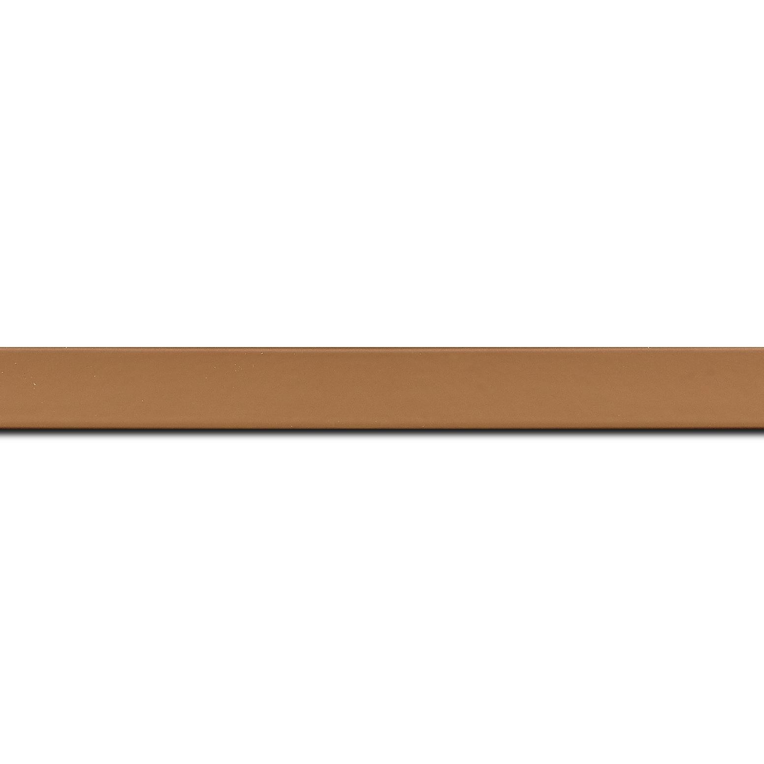 Baguette longueur 1.40m bois profil plat effet cube largeur 1.7cm couleur moka satiné