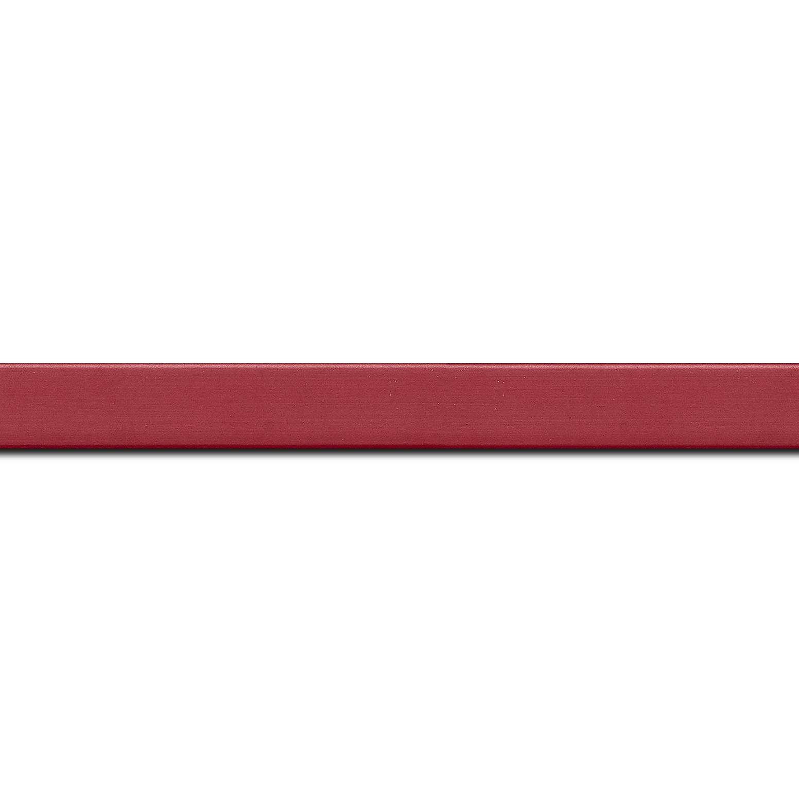 Baguette longueur 1.40m bois profil plat effet cube largeur 1.7cm couleur bordeaux satiné