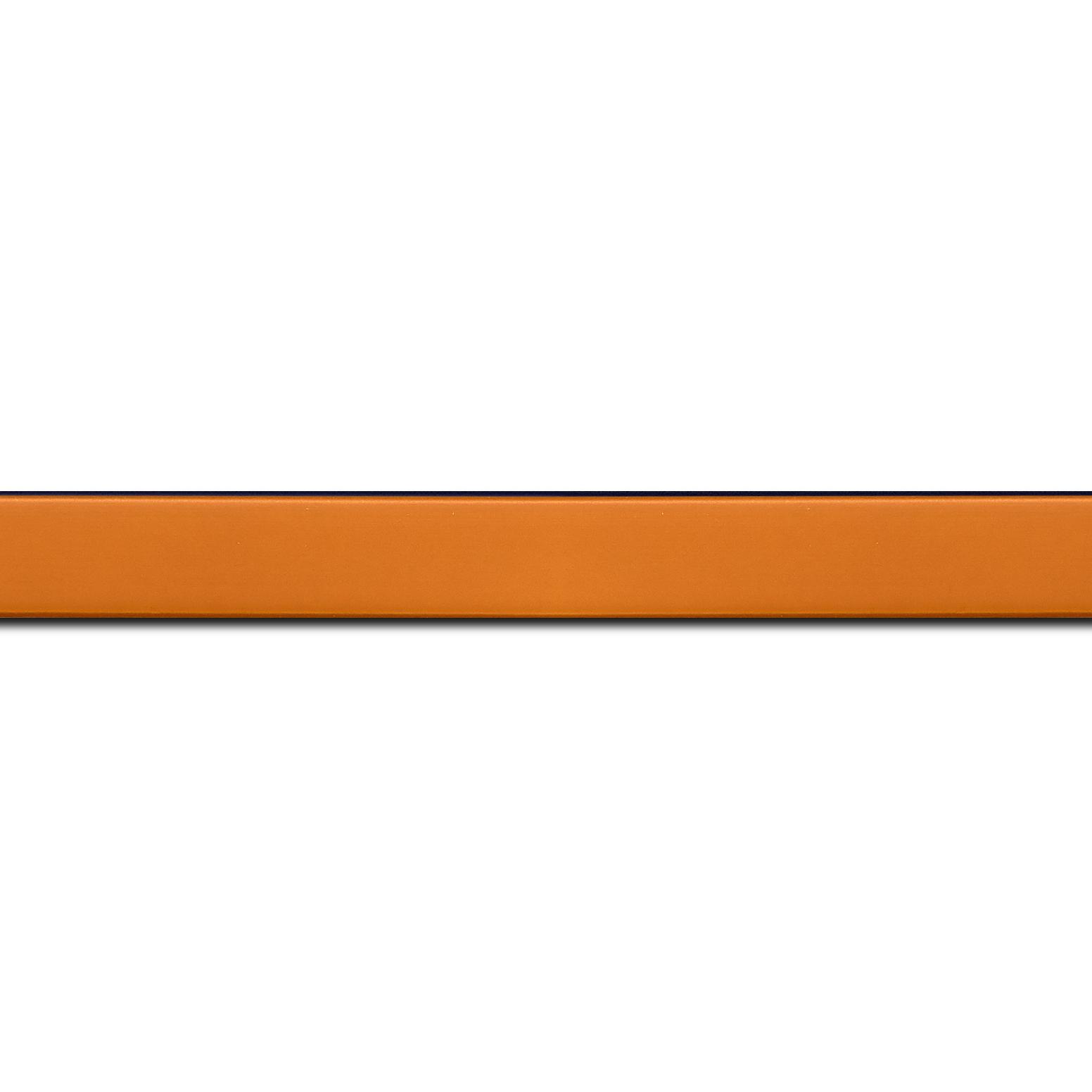 Pack par 12m, bois profil plat effet cube largeur 1.7cm couleur abricot satiné (longueur baguette pouvant varier entre 2.40m et 3m selon arrivage des bois)
