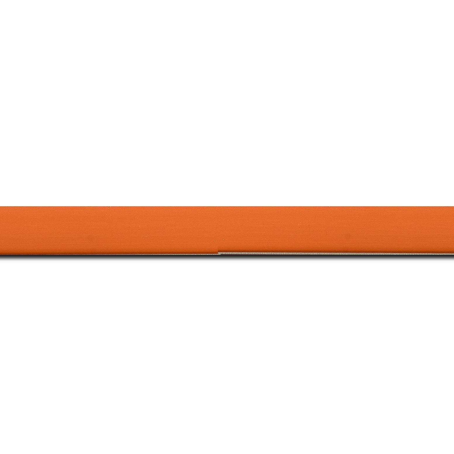 Baguette longueur 1.40m bois profil plat effet cube largeur 1.7cm couleur mandarine satiné