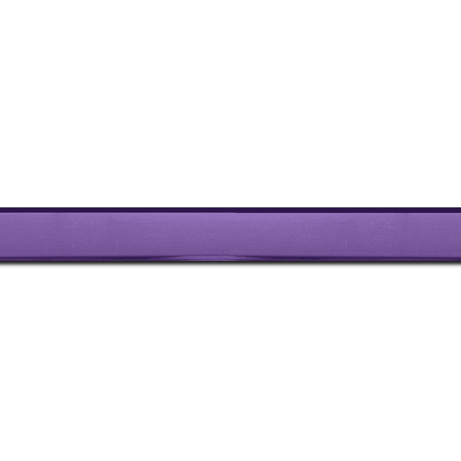 Baguette longueur 1.40m bois profil plat effet cube largeur 1.7cm couleur lavande satiné