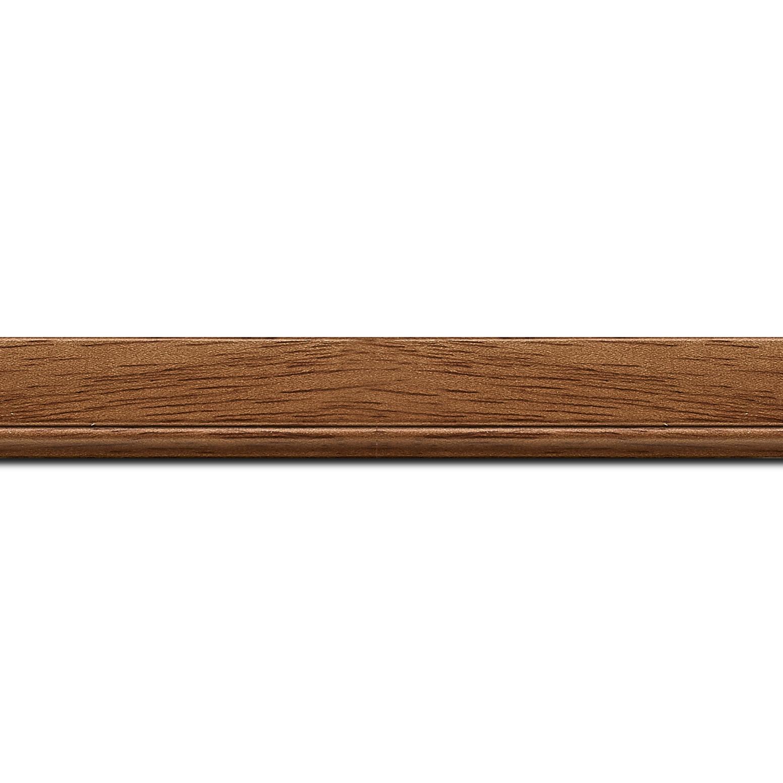 Pack par 12m, bois profil plat largeur 2.5cm couleur marron ton bois (longueur baguette pouvant varier entre 2.40m et 3m selon arrivage des bois)