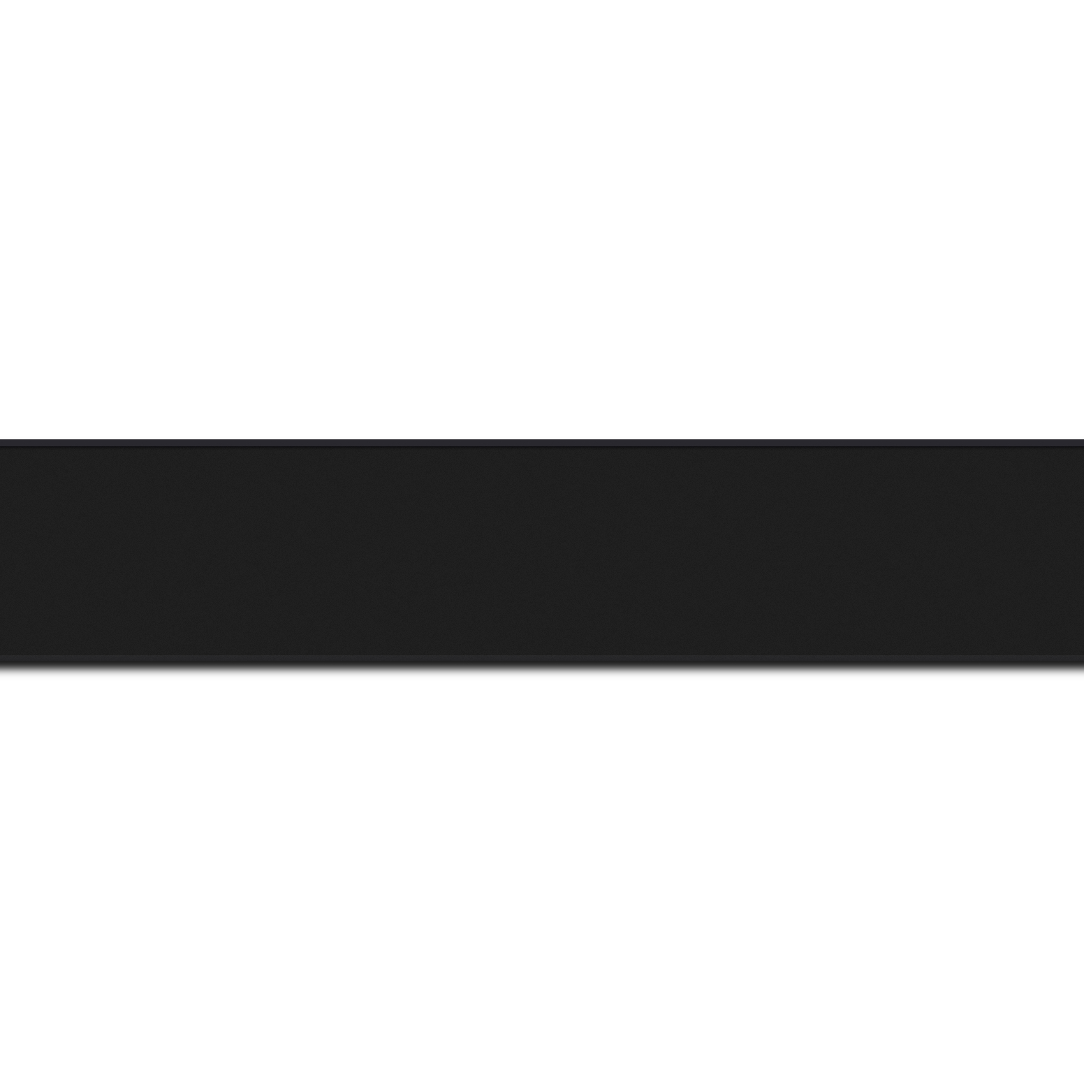 Baguette longueur 1.40m bois profil plat largeur 2.5cm hauteur 4.8cm couleur noir mat finition pore bouché (hauteur feuillure 4.3cm )