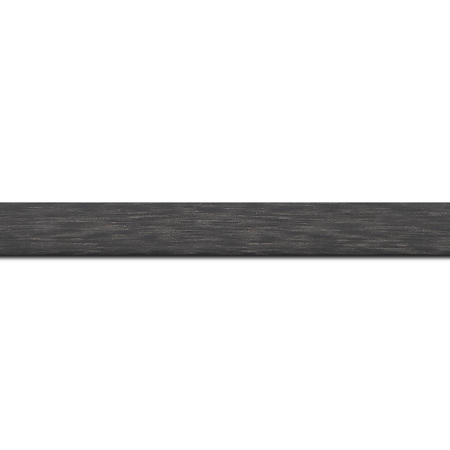 Baguette longueur 1.40m bois profil plat effet cube largeur 2cm couleur ton bois anthracite