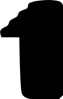 Baguette precoupe bois profil plat en pente nez escalier largeur 2cm couleur argent coté extérieur argent. finition haut de gamme car dorure à l'eau fait main