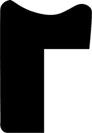 Baguette coupe droite bois profil concave largeur 1.4cm couleur or coté extérieur foncé. finition haut de gamme car dorure à l'eau fait main
