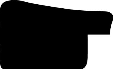 Baguette 12m bois profil en pente bosselé largeur 3.3cm couleur argent