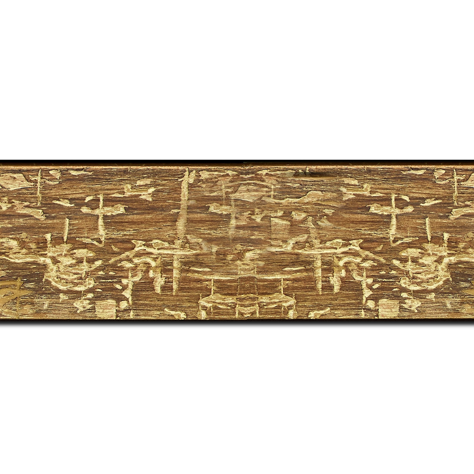 Baguette longueur 1.40m bois profil plat largeur 5cm couleur marron jauni finition bois brut aspect palette