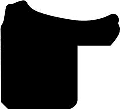 Baguette coupe droite bois profil incurvé largeur 2cm couleur noir antique bosselé