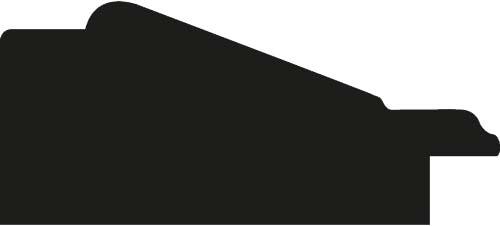 Baguette coupe droite bois profil incliné largeur 5.4cm couleur bleu cobalt marie louise crème filet or intégrée