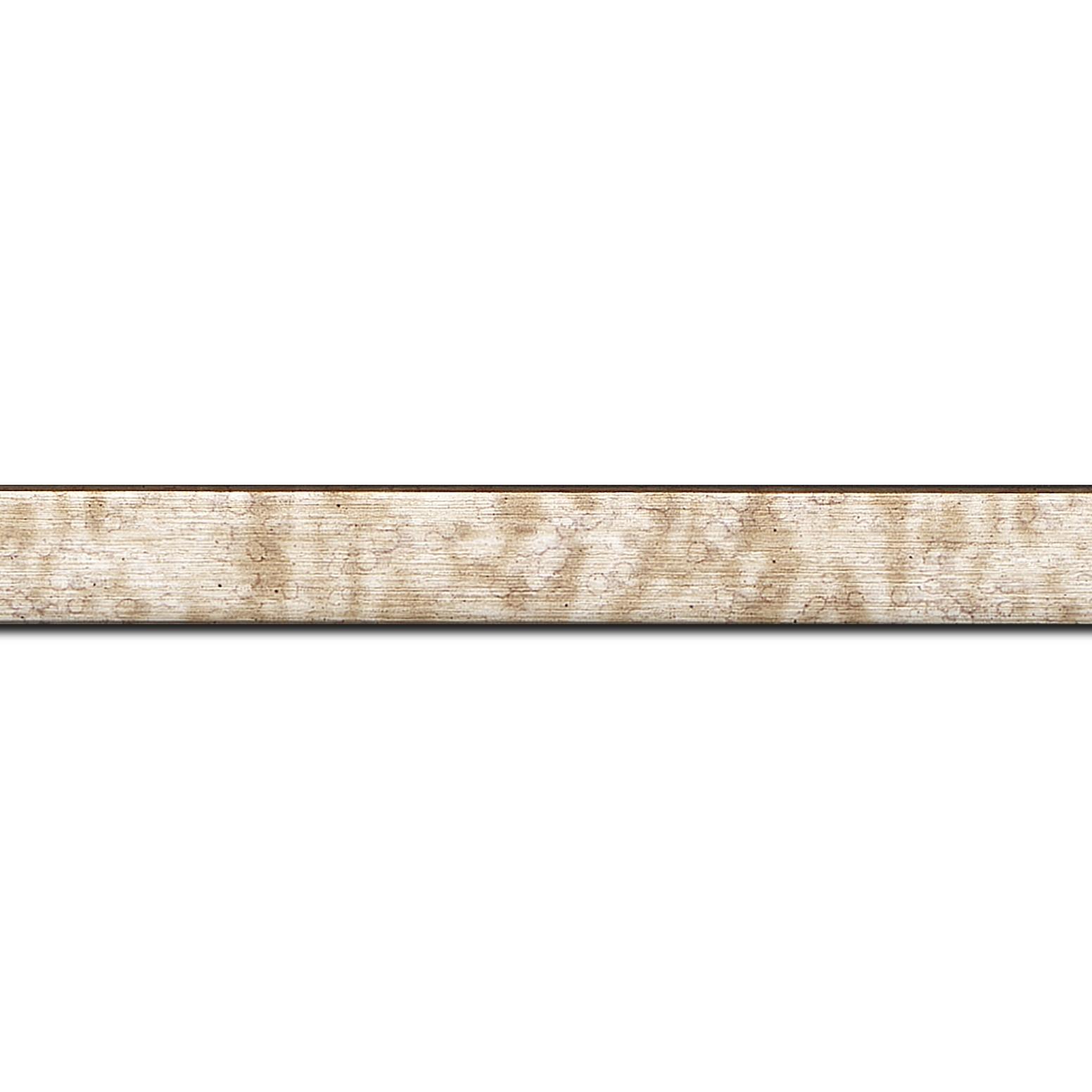 Pack par 12m, bois profil plat effet cube largeur 2cm couleur champagne  (longueur baguette pouvant varier entre 2.40m et 3m selon arrivage des bois)