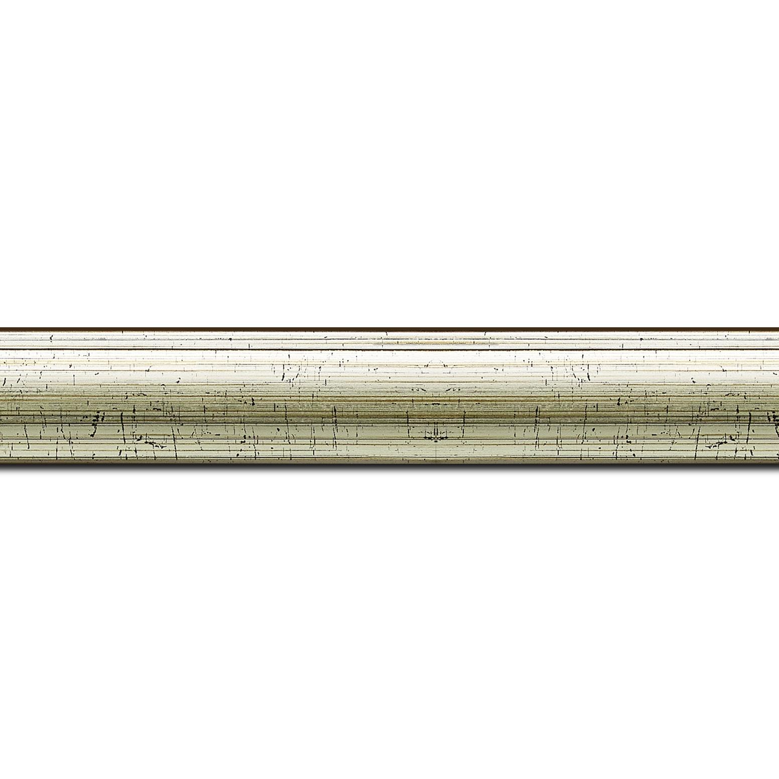 Baguette longueur 1.40m bois profil arrondi plongeant largeur 2.4cm couleur vermeille effet oxydé
