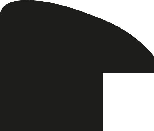 Baguette coupe droite bois profil arrondi plongeant largeur 2.4cm couleur vermeille effet oxydé