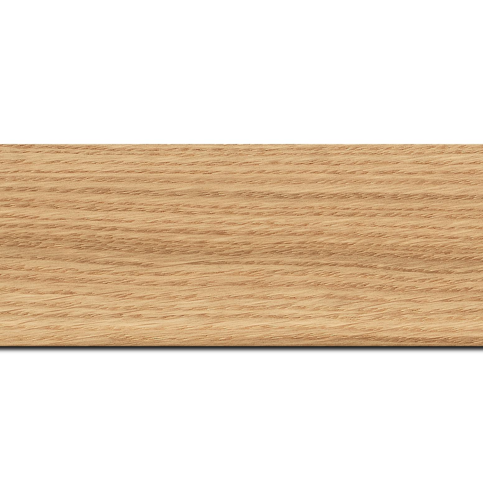 Pack par 12m, bois profil plat largeur 6.3cm plaquage haut de gamme chêne naturel(longueur baguette pouvant varier entre 2.40m et 3m selon arrivage des bois)
