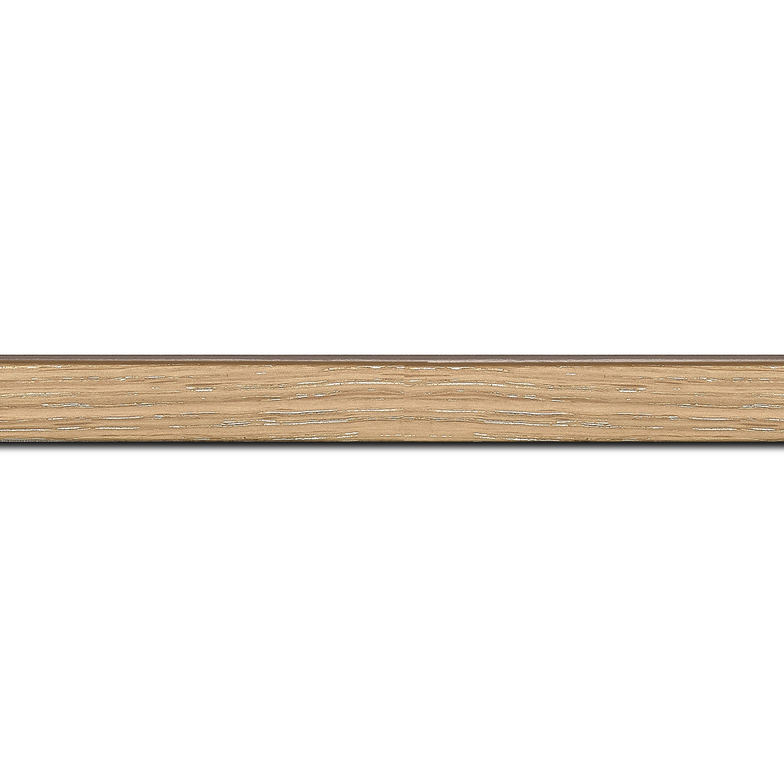 Baguette longueur 1.40m bois profil plat largeur 1.5cm  plaquage chêne blanchi haut de gamme
