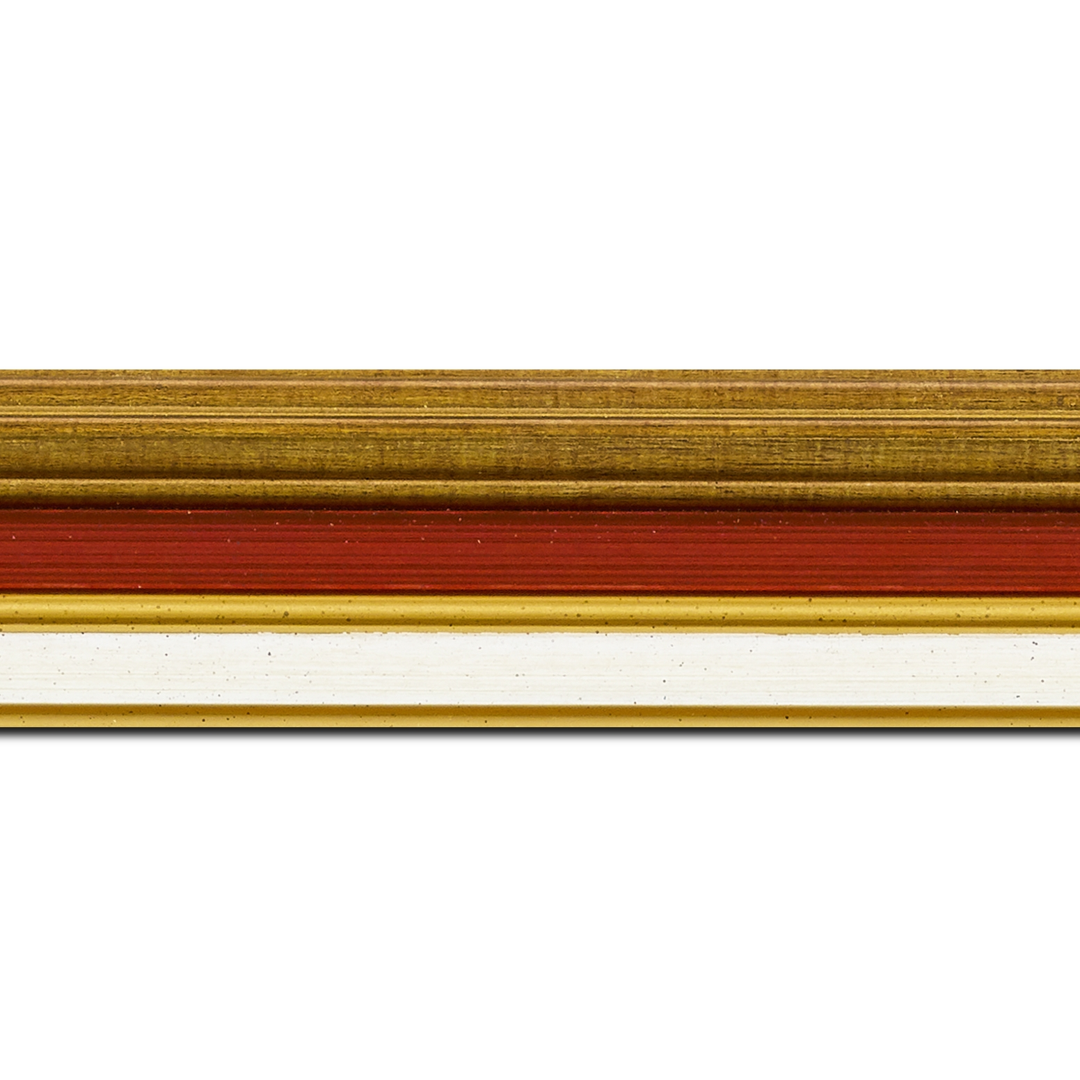 Baguette longueur 1.40m bois largeur 5.2cm or gorge bordeaux  marie louise crème filet or intégrée