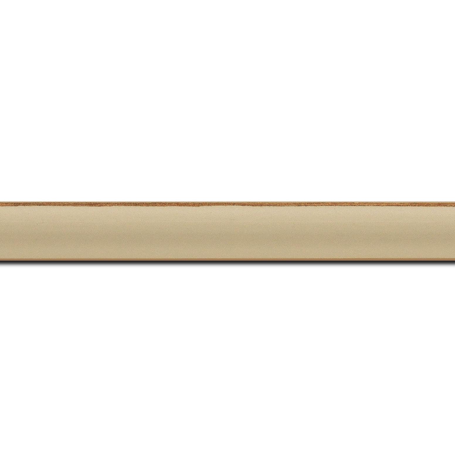 Baguette longueur 1.40m bois profil incurvé largeur 1.9cm couleur moka mat bord ressuyé