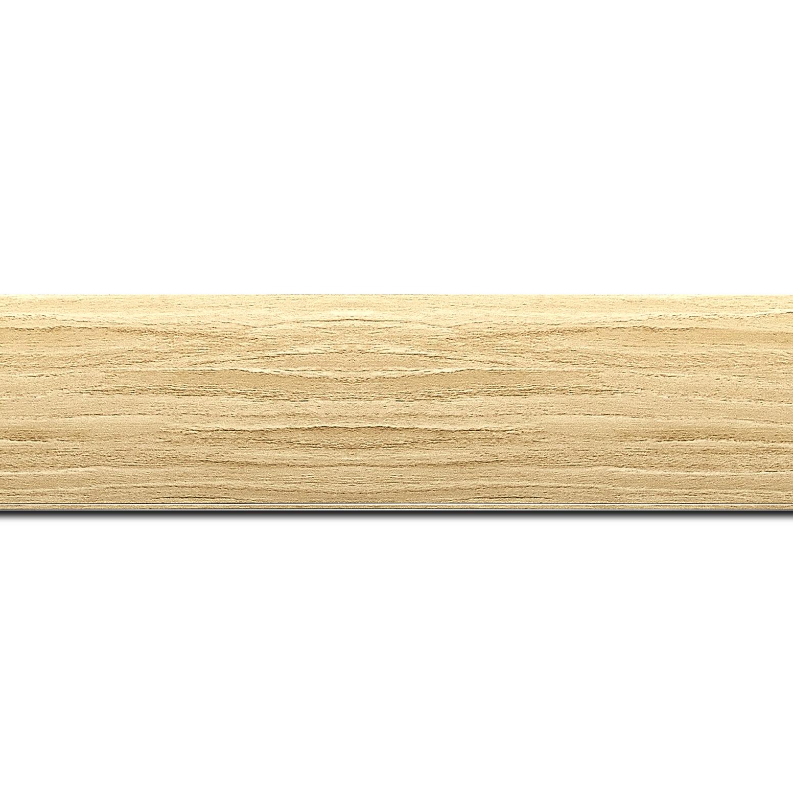 Pack par 12m, bois profil plat largeur 4.2cm décor bois naturel(longueur baguette pouvant varier entre 2.40m et 3m selon arrivage des bois)