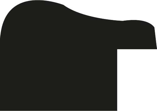 Baguette coupe droite bois profil incurvé largeur 1.9cm couleur noir mat bord ressuyé