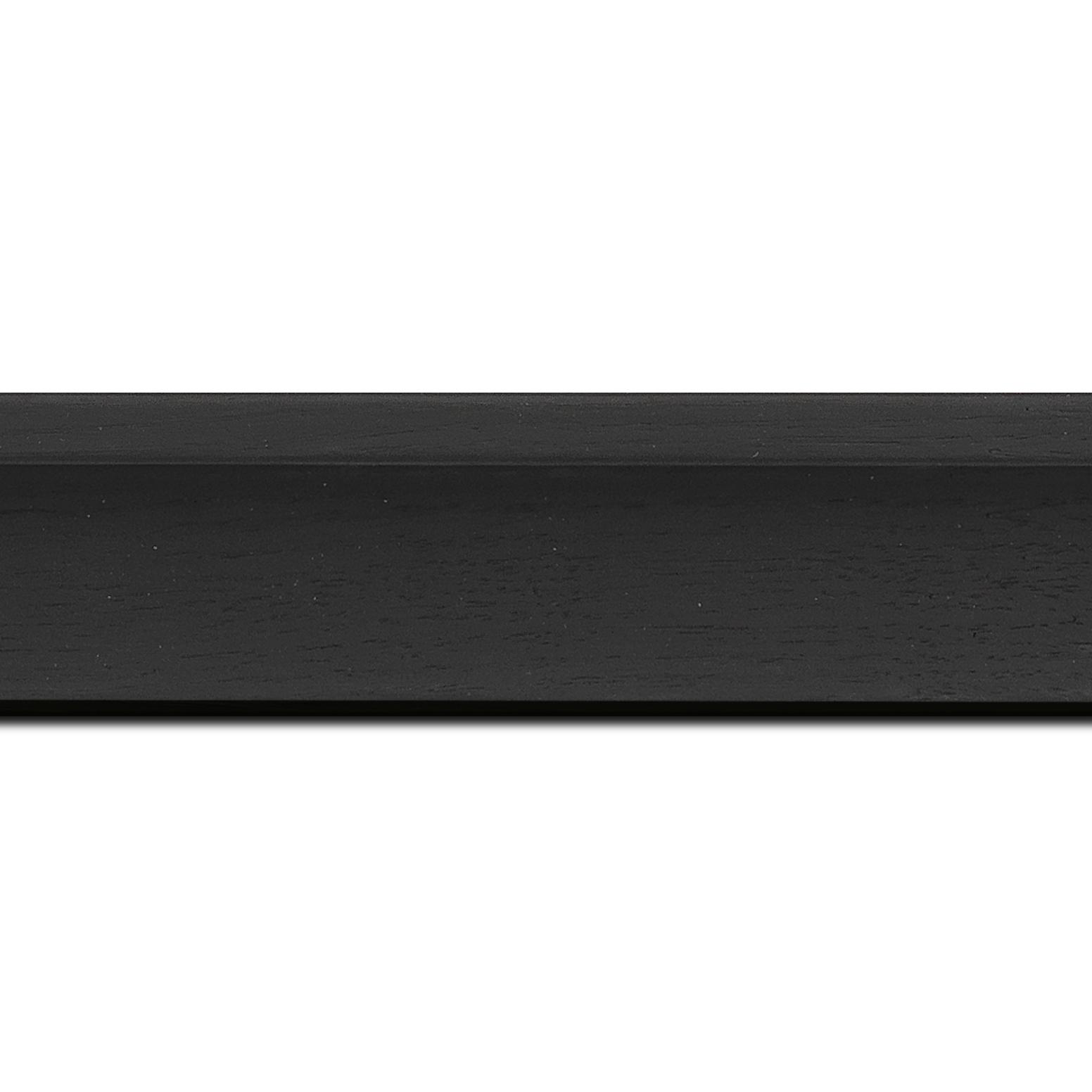 Baguette longueur 1.40m bois caisse américaine profil en l largeur 4.5cm placage haut de gamme  chêne teinté noir (spécialement conçu pour les châssis d'une épaisseur jusqu'à 3.5cm ) information complémentaire : il faut renseigner la dimension précise de votre sujet  et l'espace intérieur entre la toile et le cadre sera de 1.5cm
