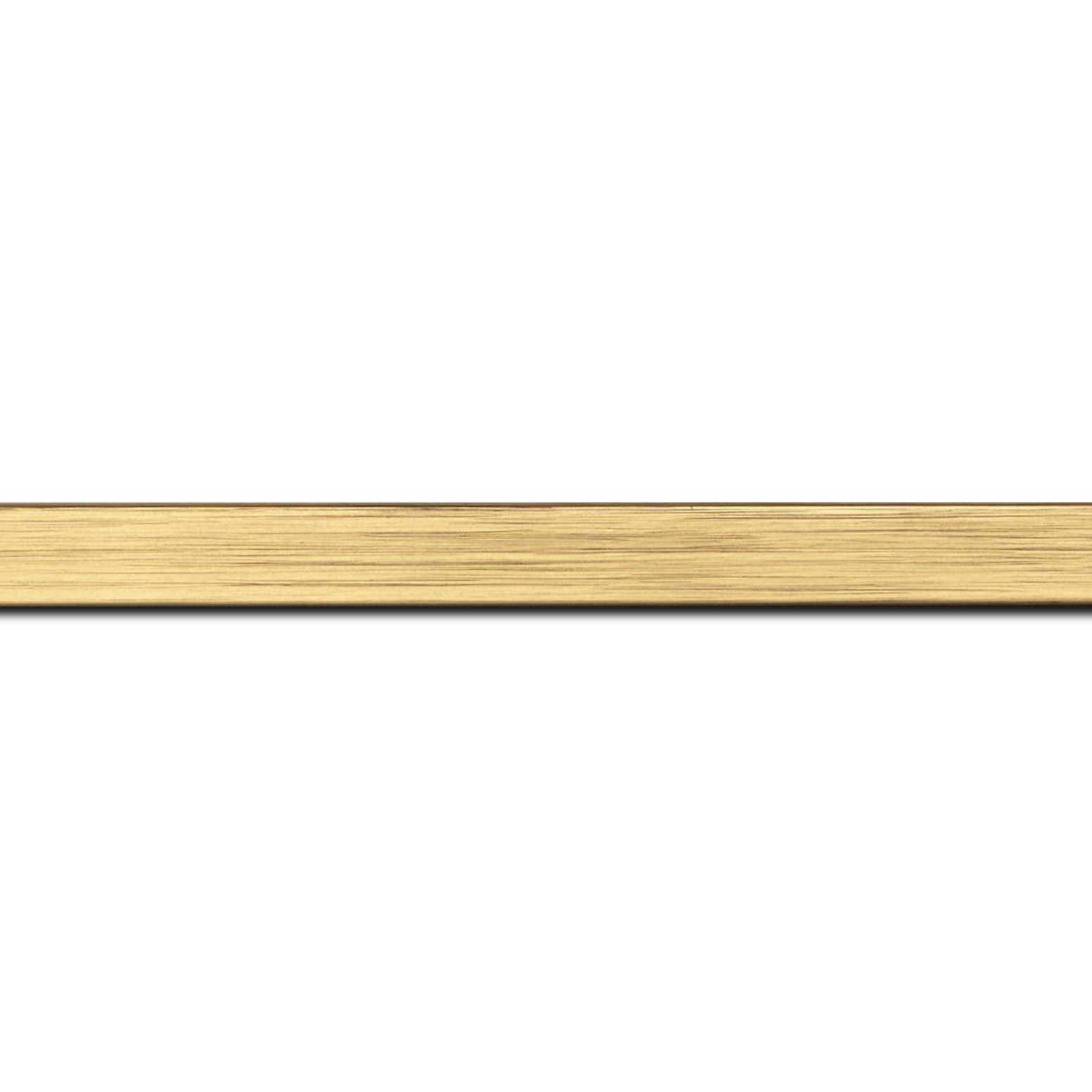 Baguette longueur 1.40m bois profil plat largeur 1.5cm couleur or