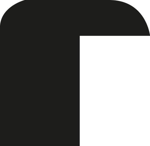 Baguette coupe droite bois profil méplat largeur 1.4cm couleur noir laqué