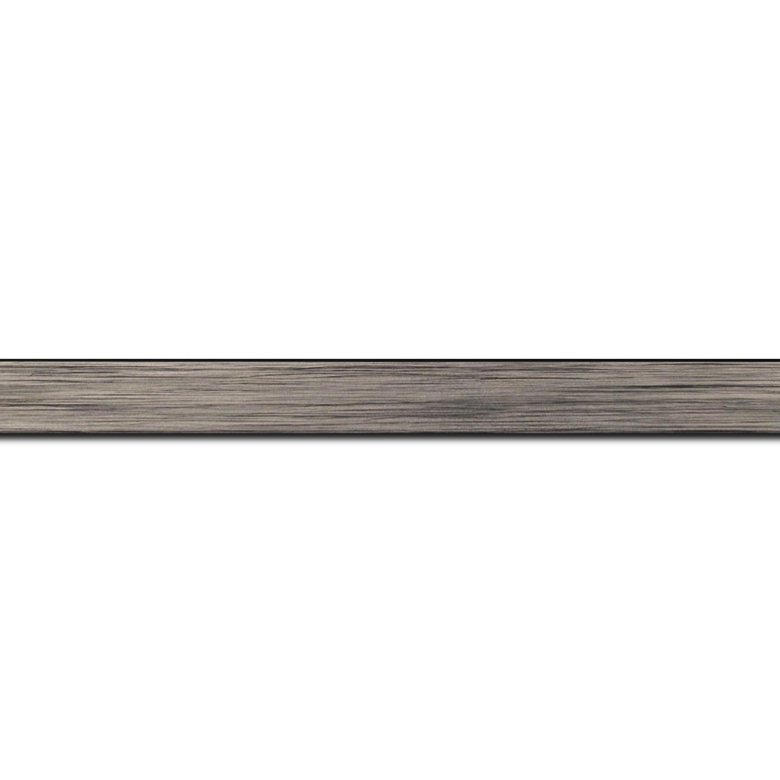 Baguette longueur 1.40m bois profil plat largeur 1.5cm couleur plomb
