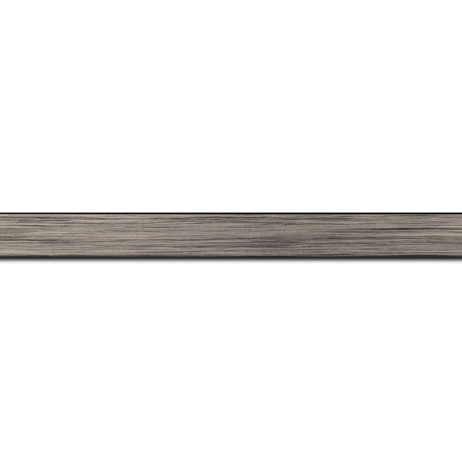 Baguette service précoupé Bois profil plat largeur 1.5cm couleur plomb
