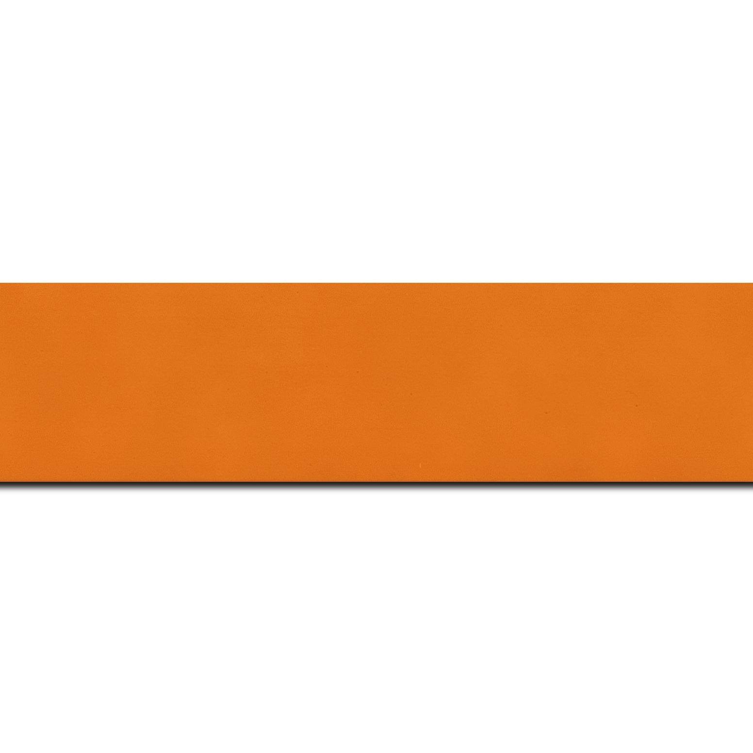Pack par 12m, bois profil plat largeur 3.9cm couleur orange mat (longueur baguette pouvant varier entre 2.40m et 3m selon arrivage des bois)