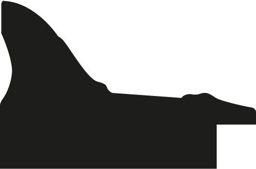 Baguette coupe droite bois profil braque largeur 4.5cm couleur noir antique
