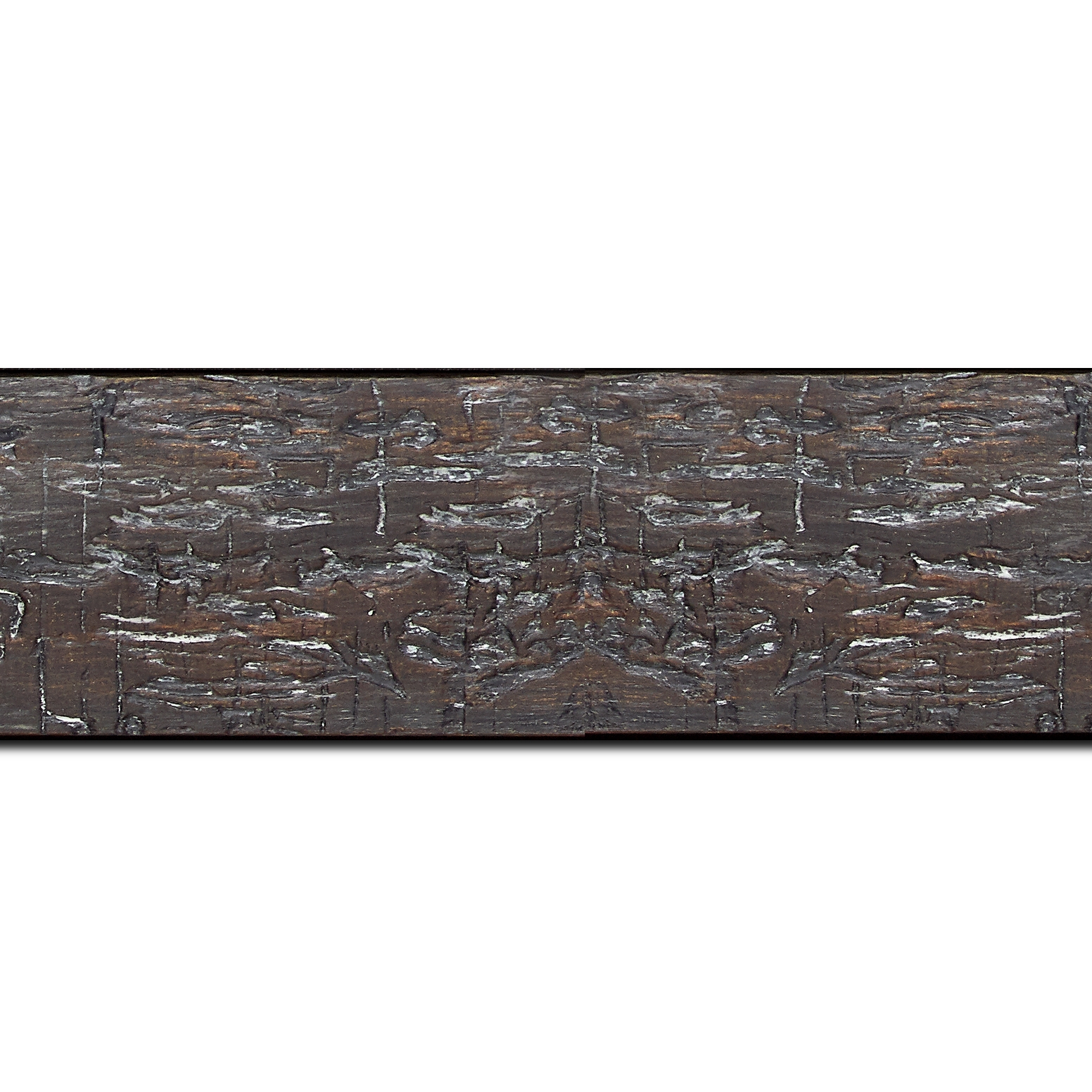 Baguette longueur 1.40m bois profil plat largeur 5cm couleur noir anthracite finition bois brut aspect palette